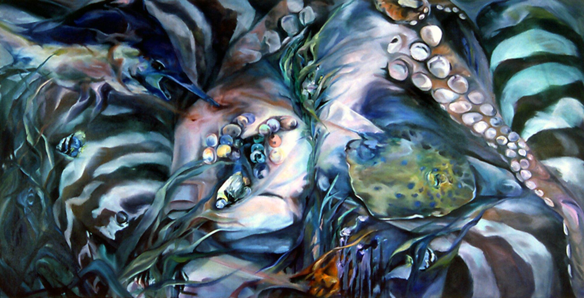 "Bejailed Jewel, 2004, Oil on canvas, 60"" x 120"""