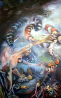 "Breakaway, 2005, Oil on canvas, 60"" x 36"""