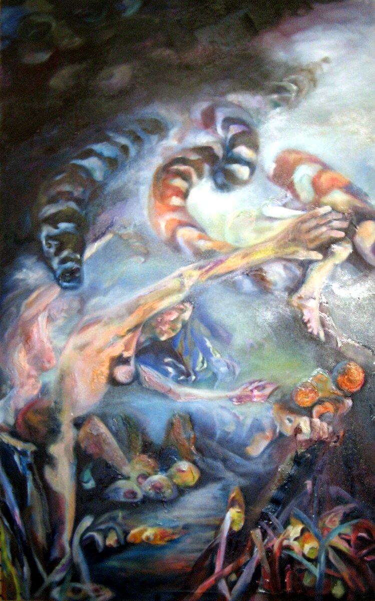 """Breakaway, 2005, Oil on canvas, 60"""" x 36"""""""
