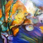 "Evolution, 2005, Oil on canvas, 30"" x 40"""