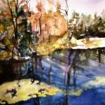 "Georgian Bay II, 2004, Watercolor on Arches archival paper, 17"" x 14"""