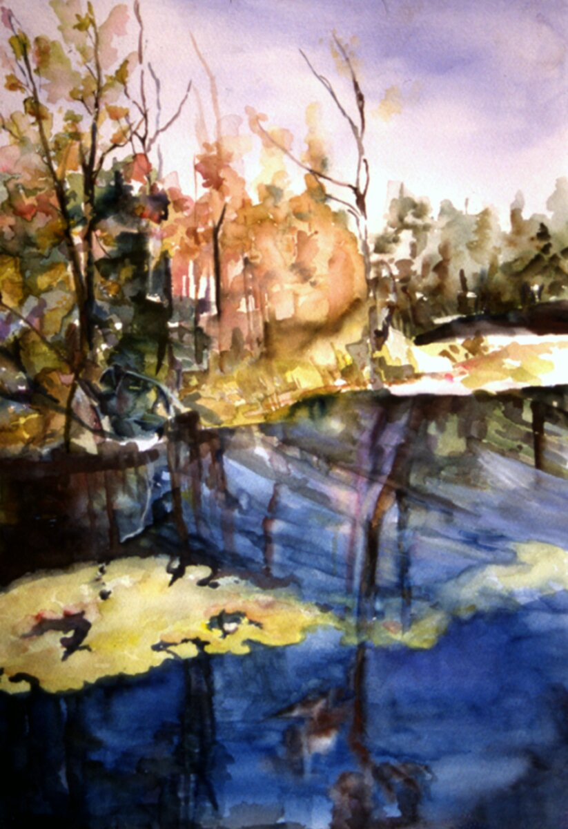 """Georgian Bay II, 2004, Watercolor on Arches archival paper, 17"""" x 14"""""""