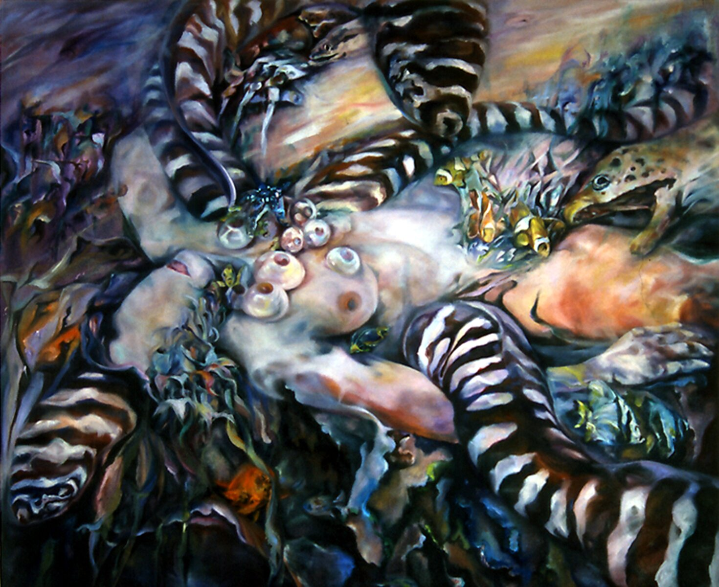 "Lady Violet, 2004, Oil on canvas, 60"" x 72"""