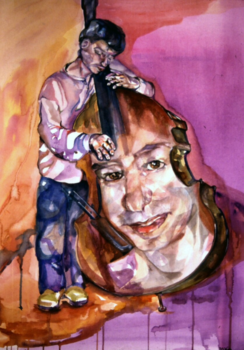 """My Reflection, 2004, Watercolor on Arches archival paper, 24"""" x 18"""""""