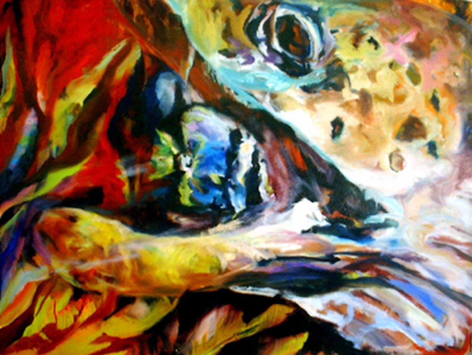 "Predator, 2005, Oil on canvas, 30"" x 40"""