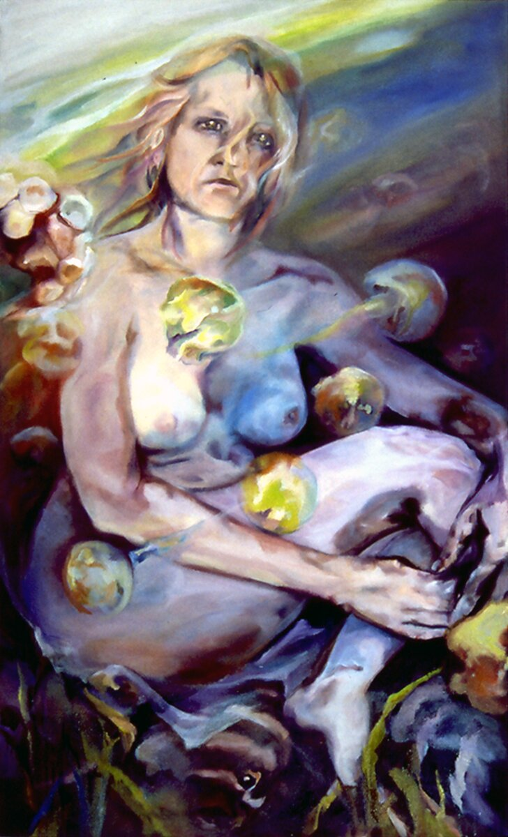 "Shell, 2006, Oil on canvas, 60"" x 36"""