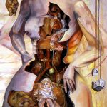 "Toylings Through Time, 2003, Oil on canvas, 72"" x 60"""