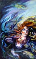 "Unveil, 2005, Oil on canvas, 60"" x 36"""