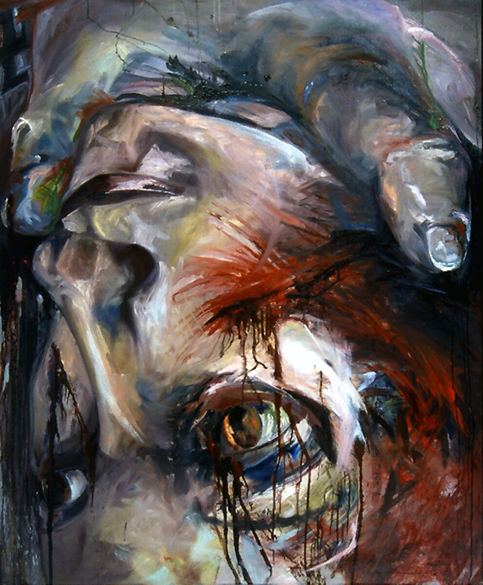 """Without Choice, 2004, Oil on canvas, 72"""" x 60"""""""
